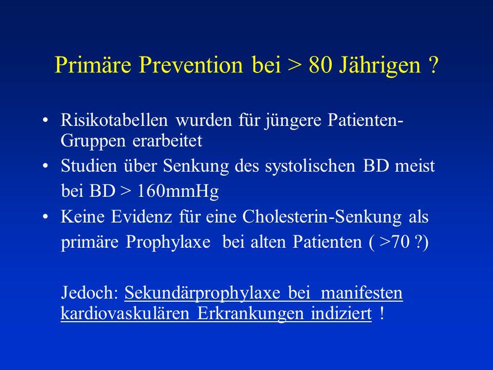 Primäre Prevention bei > 80 Jährigen