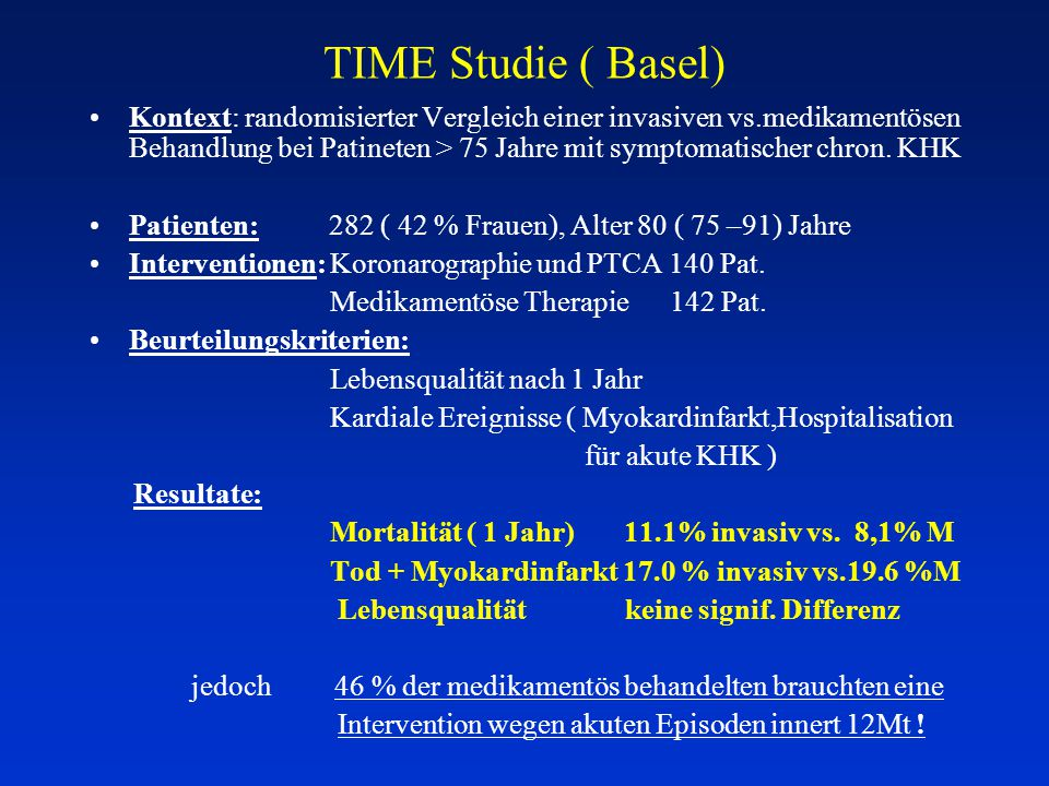 TIME Studie ( Basel)