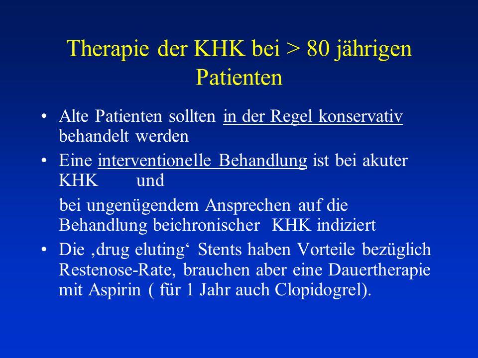 Therapie der KHK bei > 80 jährigen Patienten