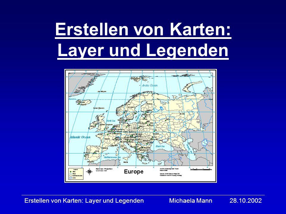 Erstellen von Karten: Layer und Legenden
