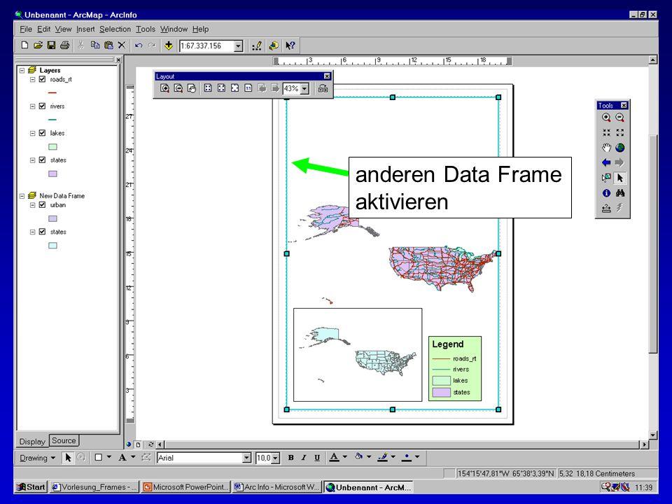 anderen Data Frame aktivieren
