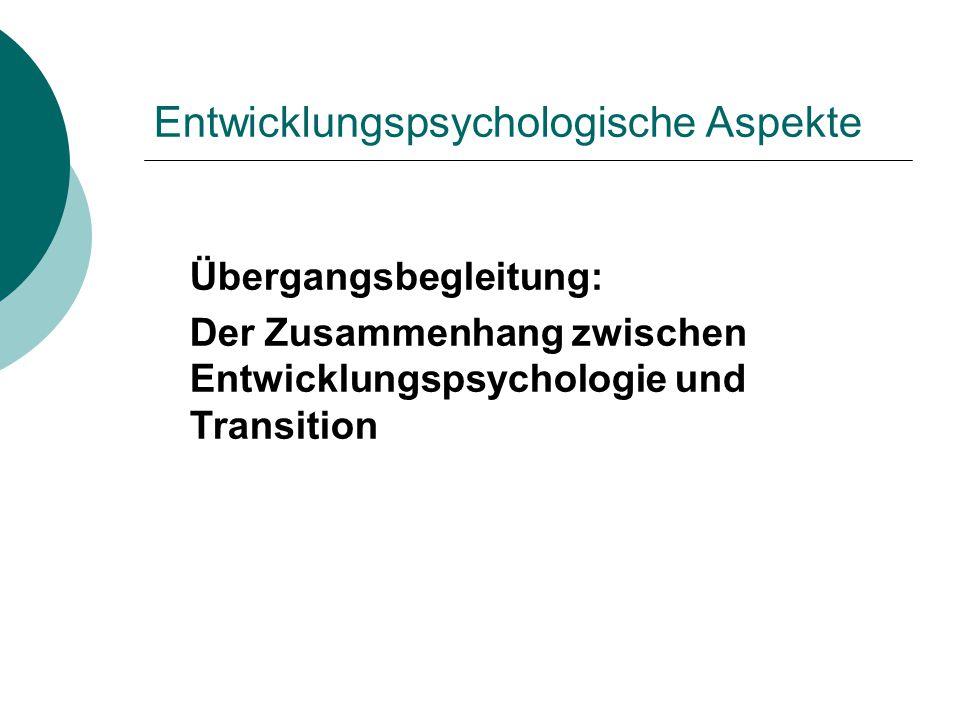Entwicklungspsychologische Aspekte