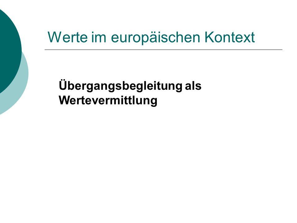 Werte im europäischen Kontext