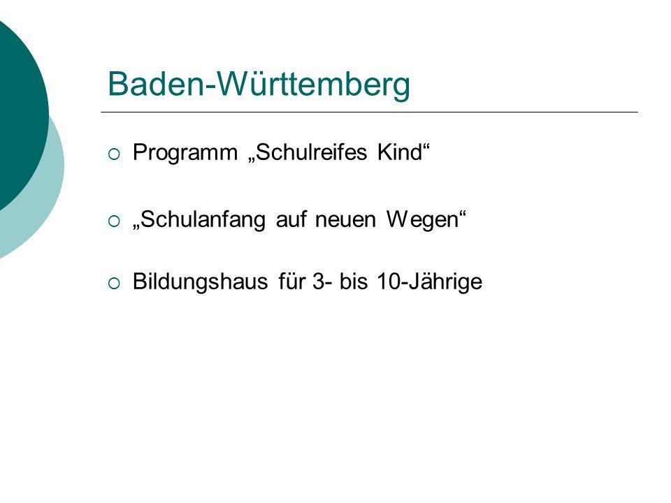 """Baden-Württemberg Programm """"Schulreifes Kind"""