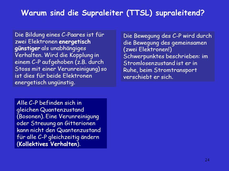 Warum sind die Supraleiter (TTSL) supraleitend