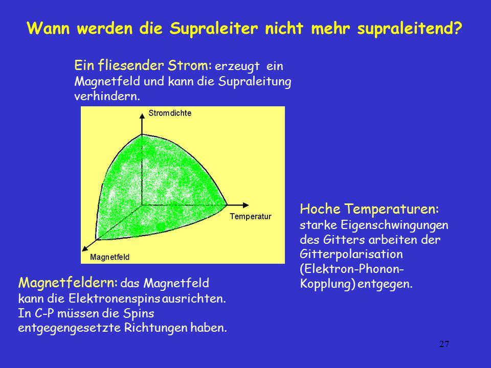Wann werden die Supraleiter nicht mehr supraleitend