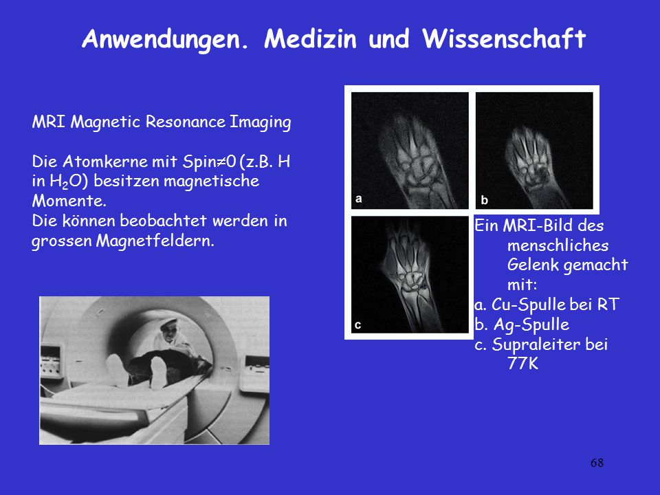 Anwendungen. Medizin und Wissenschaft