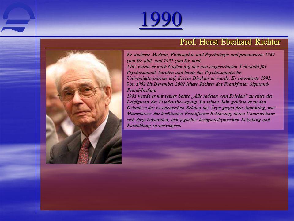 1990 Prof. Horst Eberhard Richter
