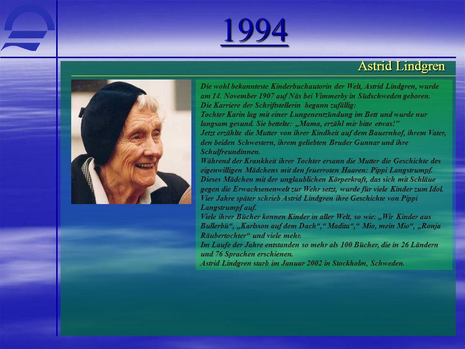 1994 Astrid Lindgren.