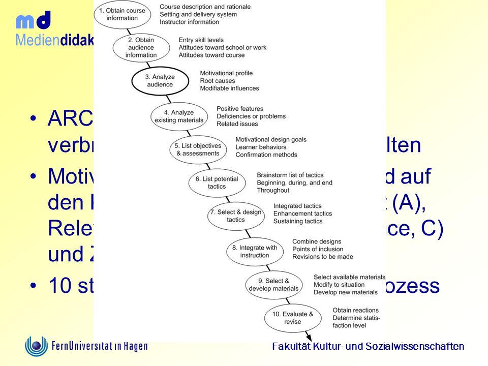 Konsequenz ARCS-Modell kann als das best verbreitest und best elaborietest gelten.