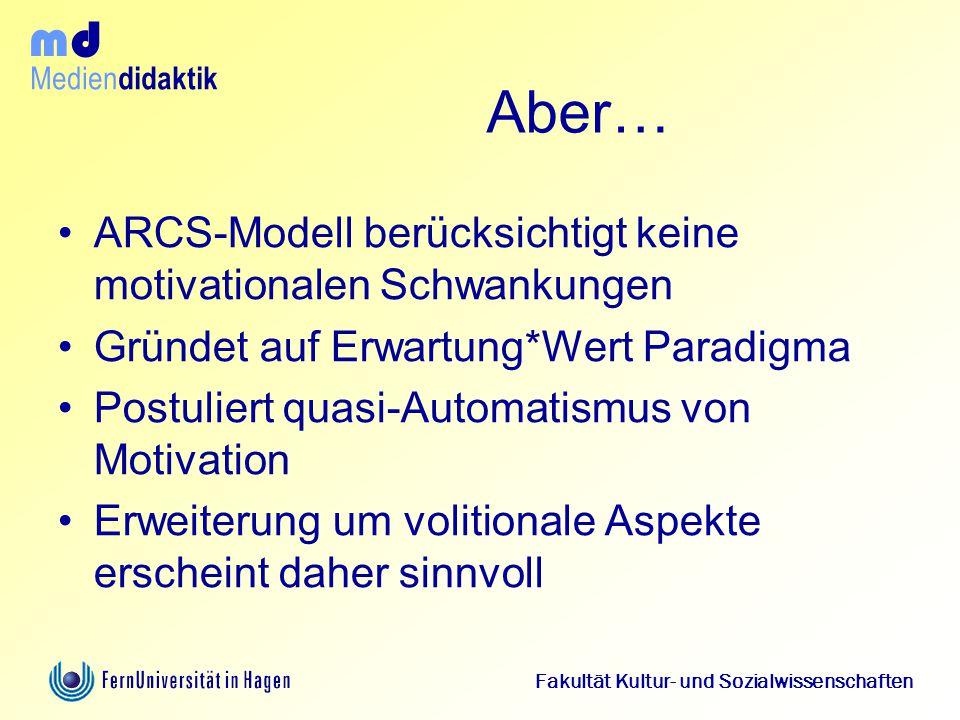 Aber… ARCS-Modell berücksichtigt keine motivationalen Schwankungen