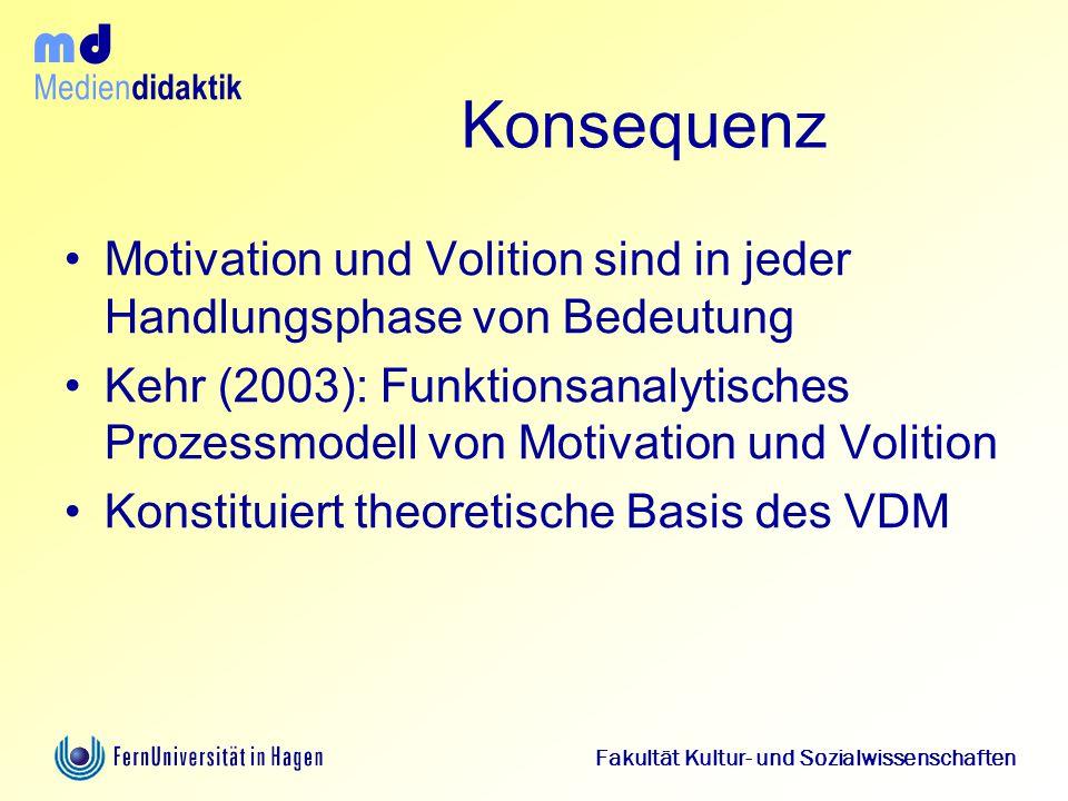 Konsequenz Motivation und Volition sind in jeder Handlungsphase von Bedeutung.
