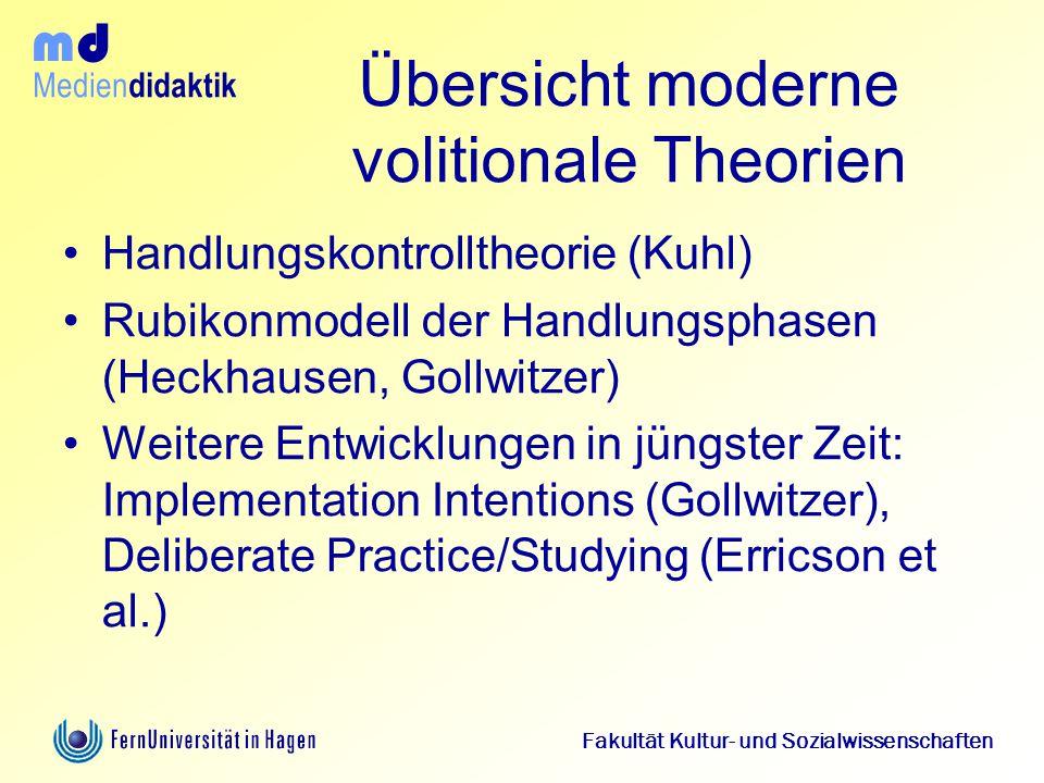Übersicht moderne volitionale Theorien