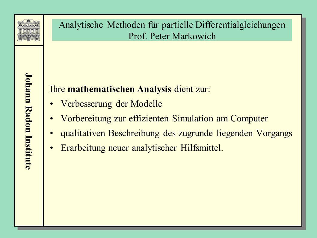Analytische Methoden für partielle Differentialgleichungen Prof