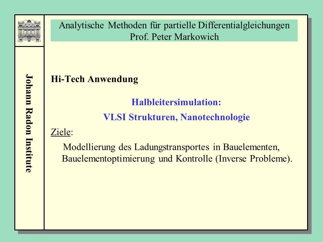 Halbleitersimulation: VLSI Strukturen, Nanotechnologie