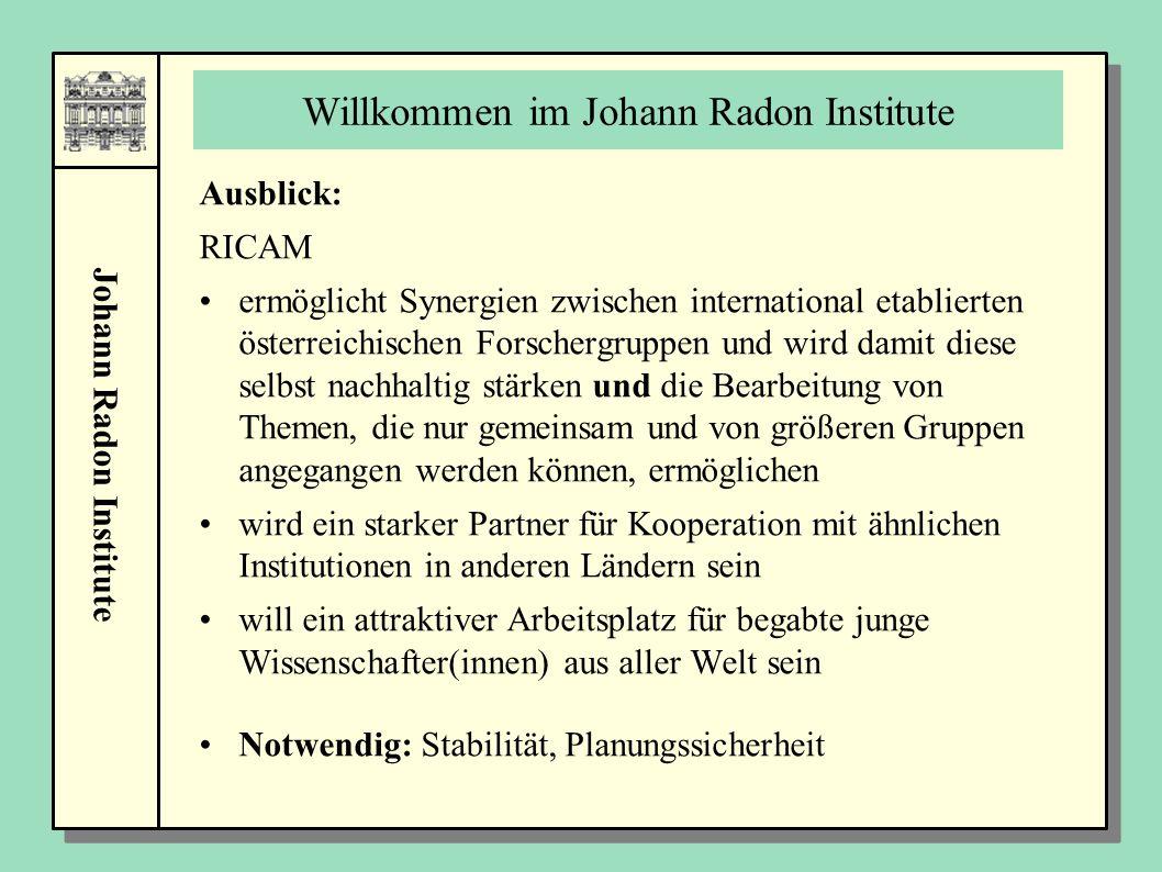 Willkommen im Johann Radon Institute