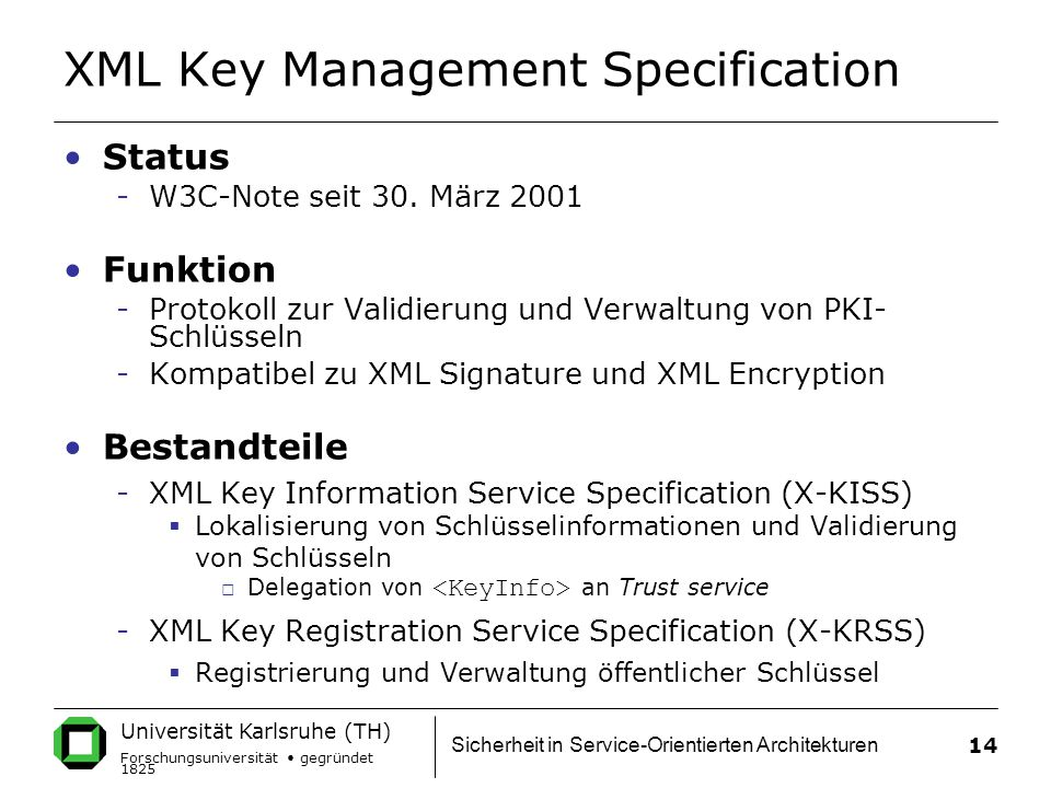 XML Key Management Specification
