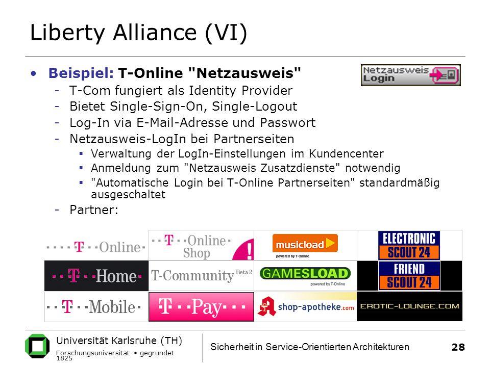 Liberty Alliance (VI) Beispiel: T-Online Netzausweis