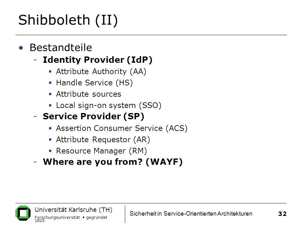 Shibboleth (II) Bestandteile Identity Provider (IdP)