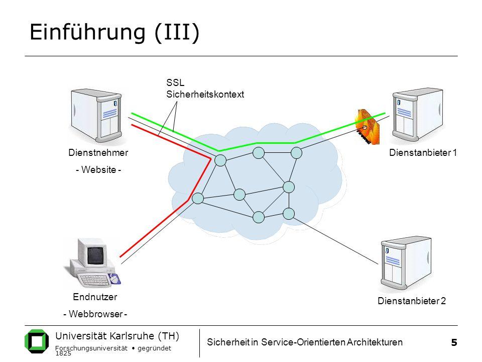 Einführung (III) SSL Sicherheitskontext Dienstnehmer - Website -