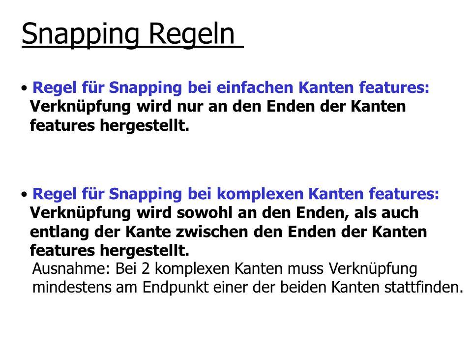 Snapping Regeln Regel für Snapping bei einfachen Kanten features: