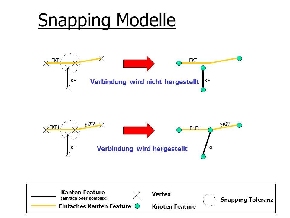 Snapping Modelle Verbindung wird nicht hergestellt