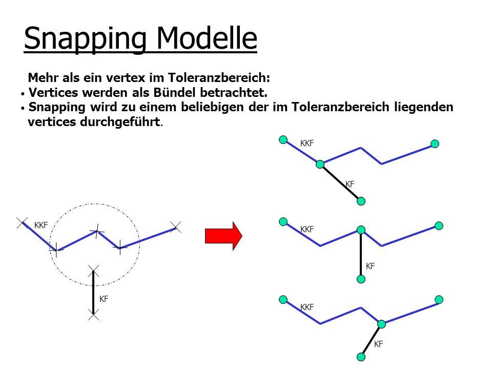 Snapping Modelle Mehr als ein vertex im Toleranzbereich: