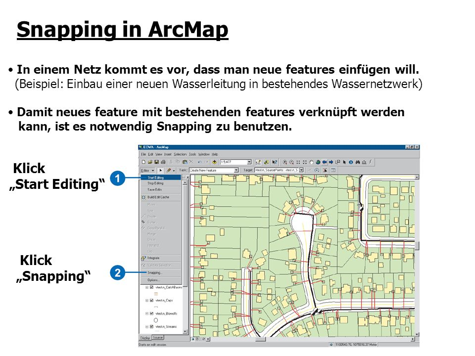 "Snapping in ArcMap Klick ""Start Editing ""Snapping"