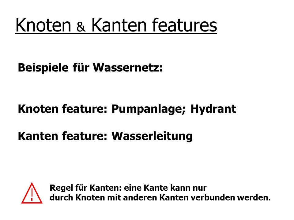 Knoten & Kanten features