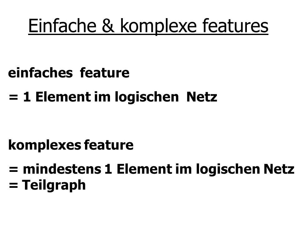 Einfache & komplexe features