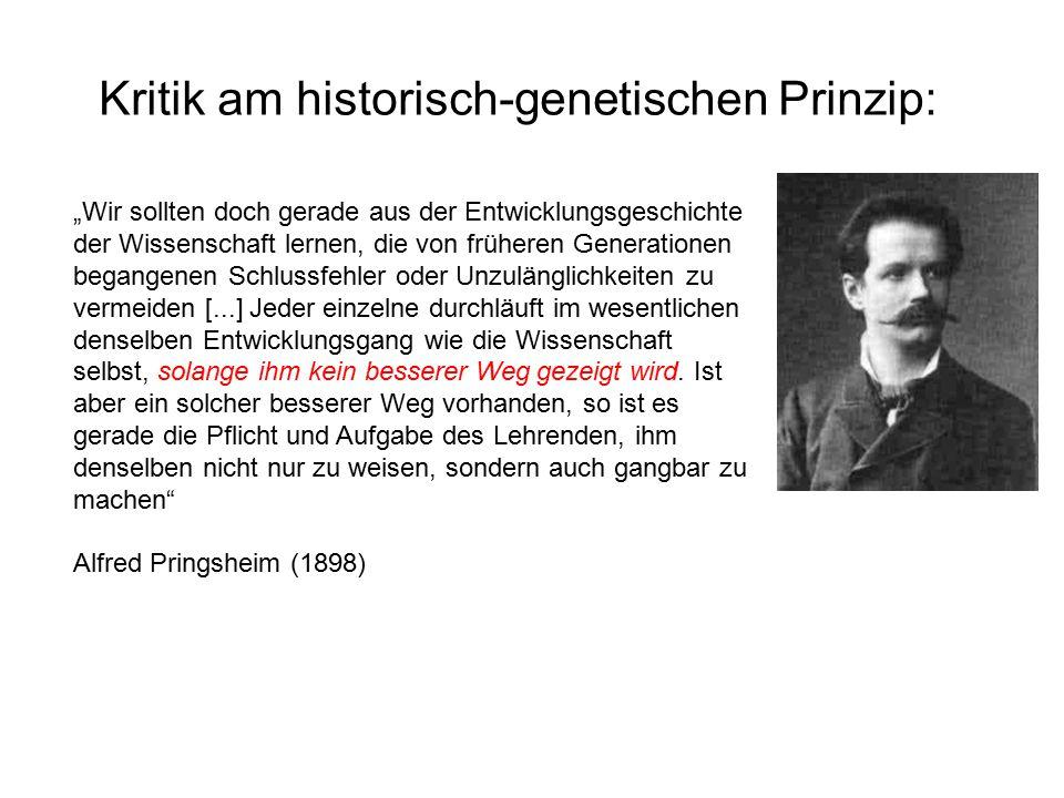 Kritik am historisch-genetischen Prinzip: