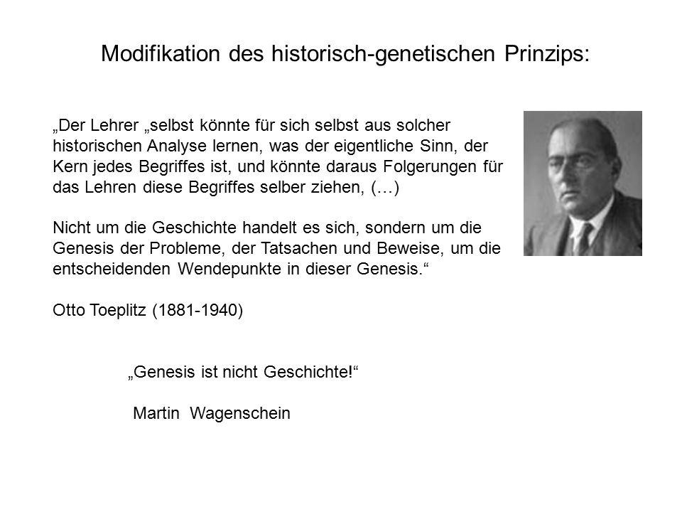 Modifikation des historisch-genetischen Prinzips: