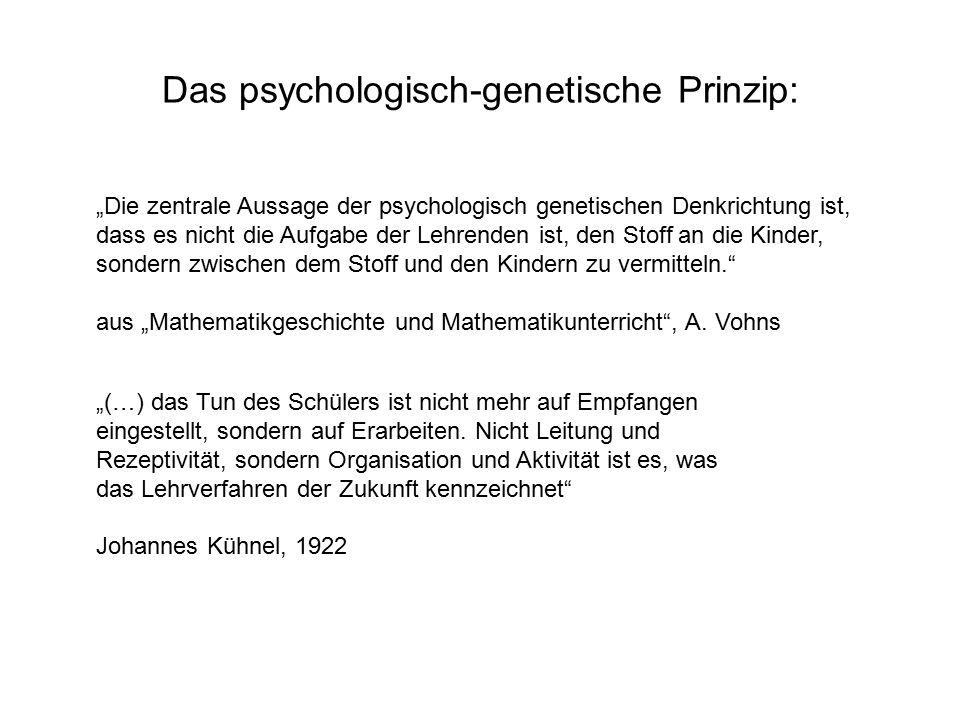 Das psychologisch-genetische Prinzip: