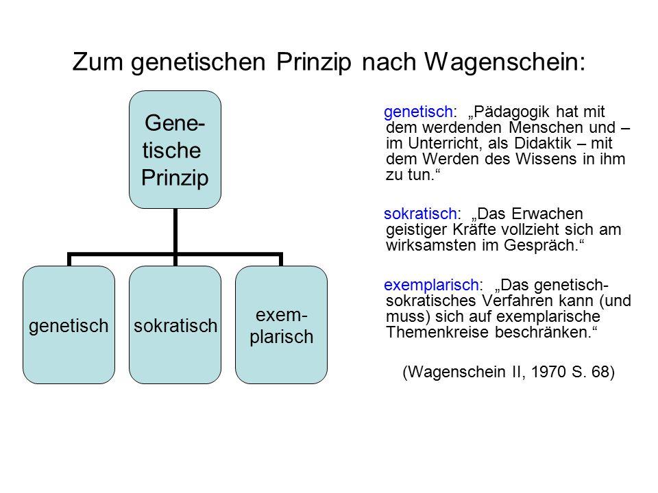 Zum genetischen Prinzip nach Wagenschein: