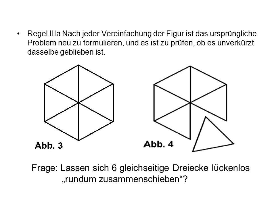 Frage: Lassen sich 6 gleichseitige Dreiecke lückenlos