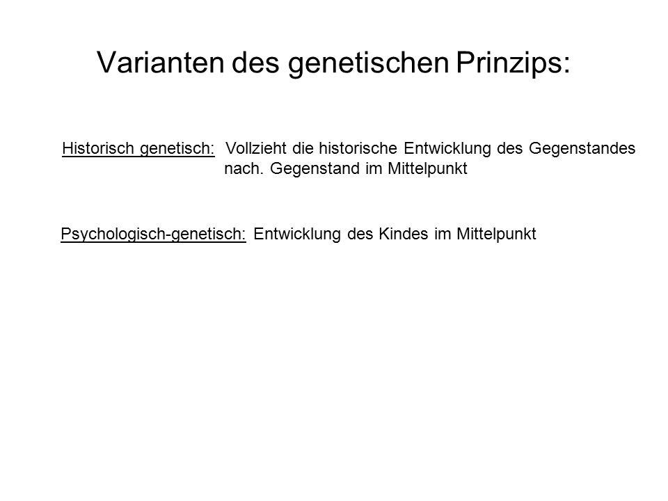 Varianten des genetischen Prinzips: