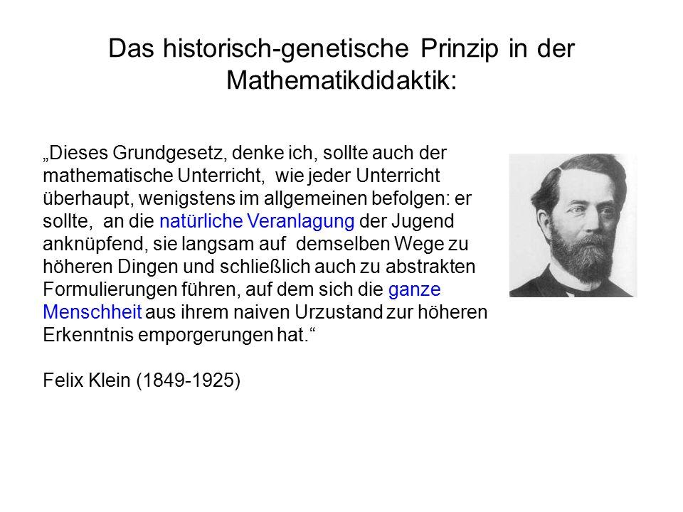 Das historisch-genetische Prinzip in der Mathematikdidaktik: