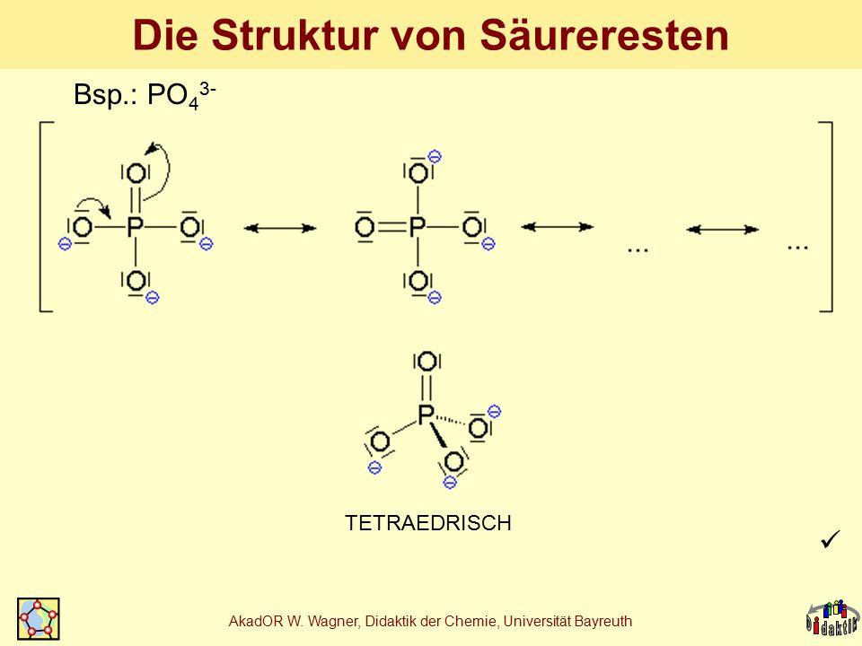 Die Struktur von Säureresten