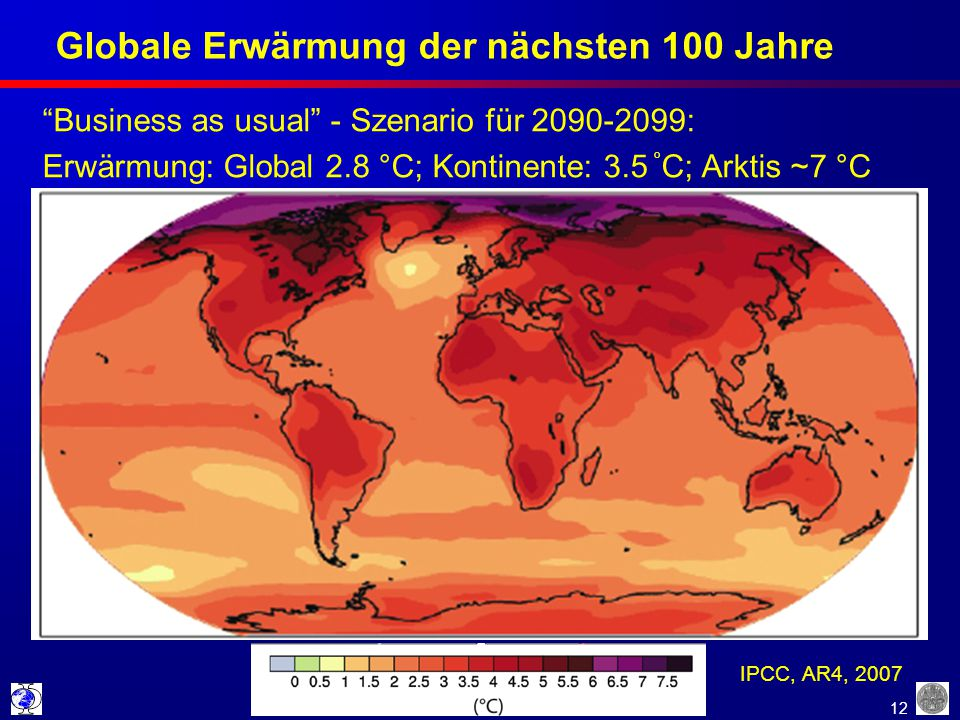 Globale Erwärmung der nächsten 100 Jahre