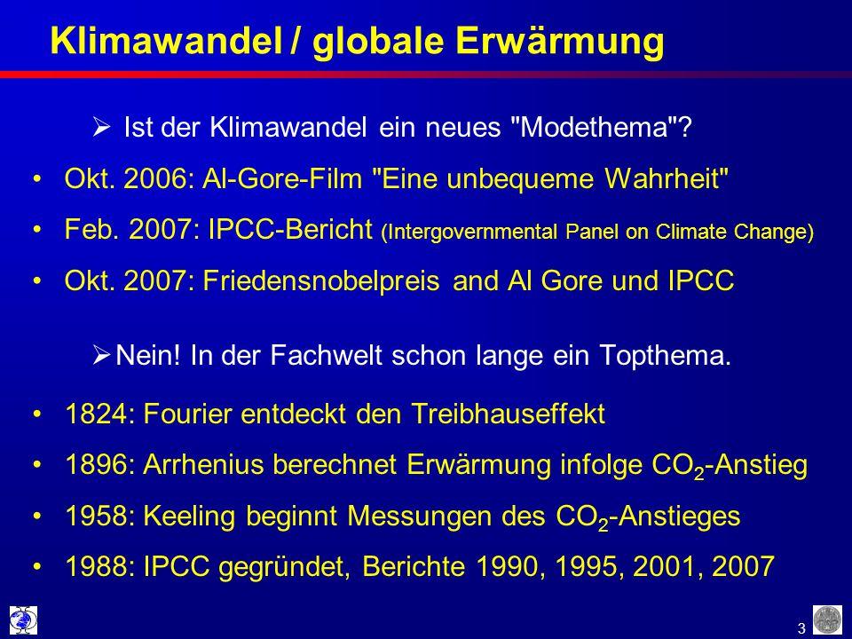 Klimawandel / globale Erwärmung