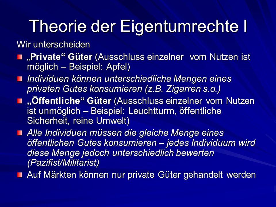 Theorie der Eigentumrechte I