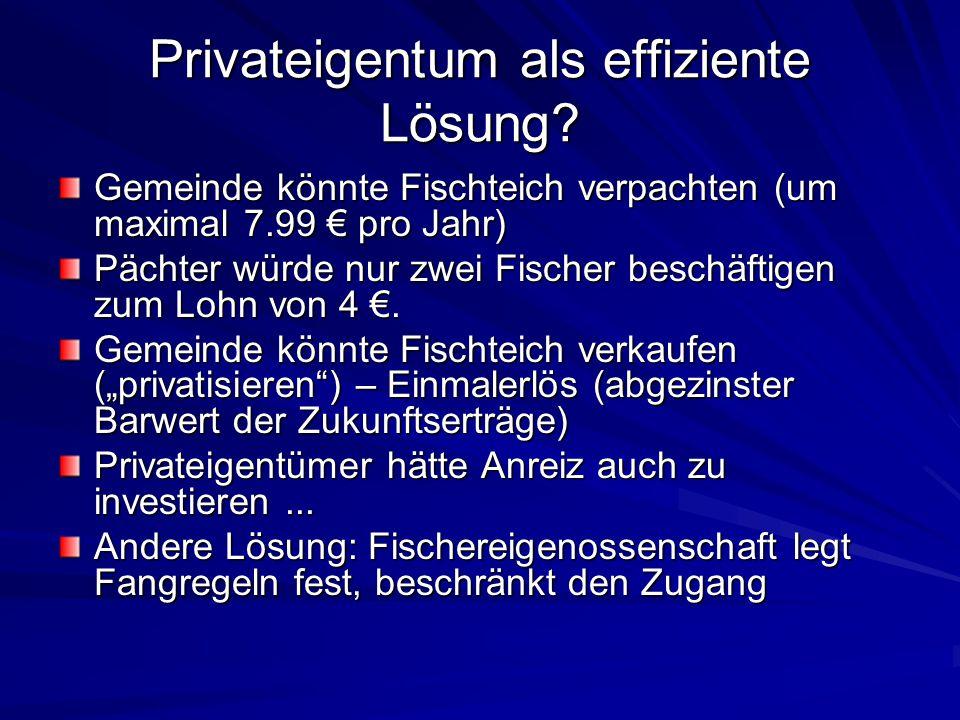 Privateigentum als effiziente Lösung