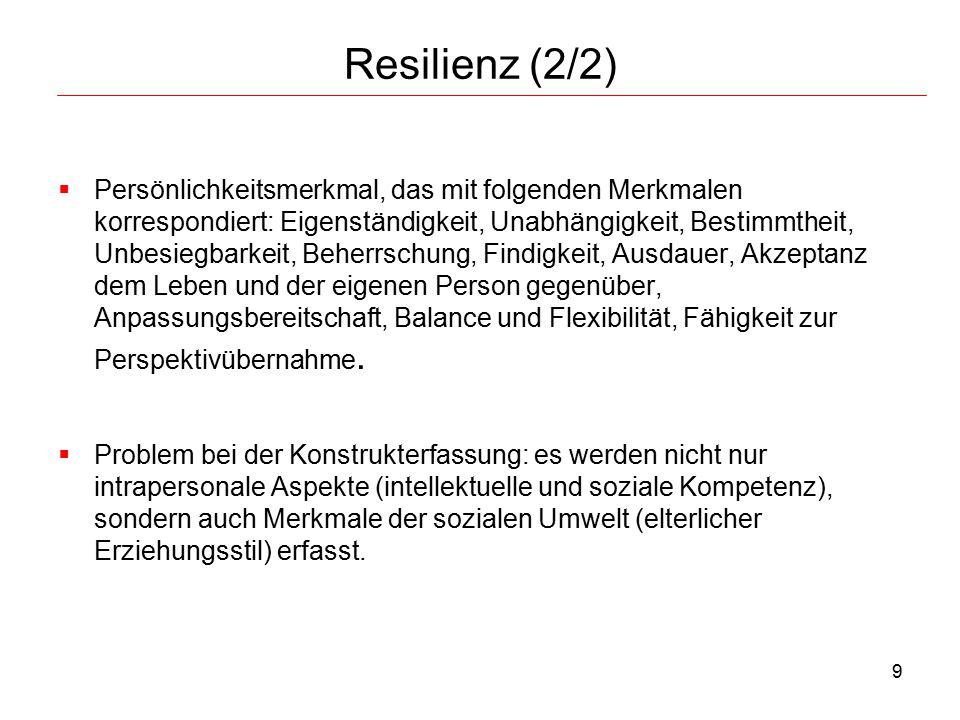 Resilienz (2/2)