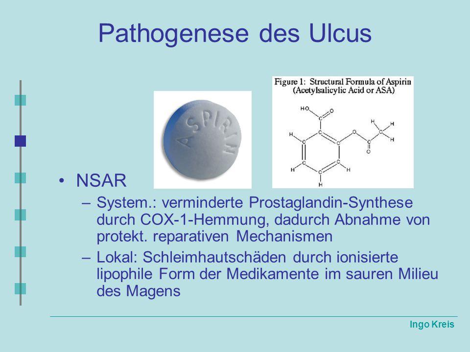 Pathogenese des Ulcus NSAR