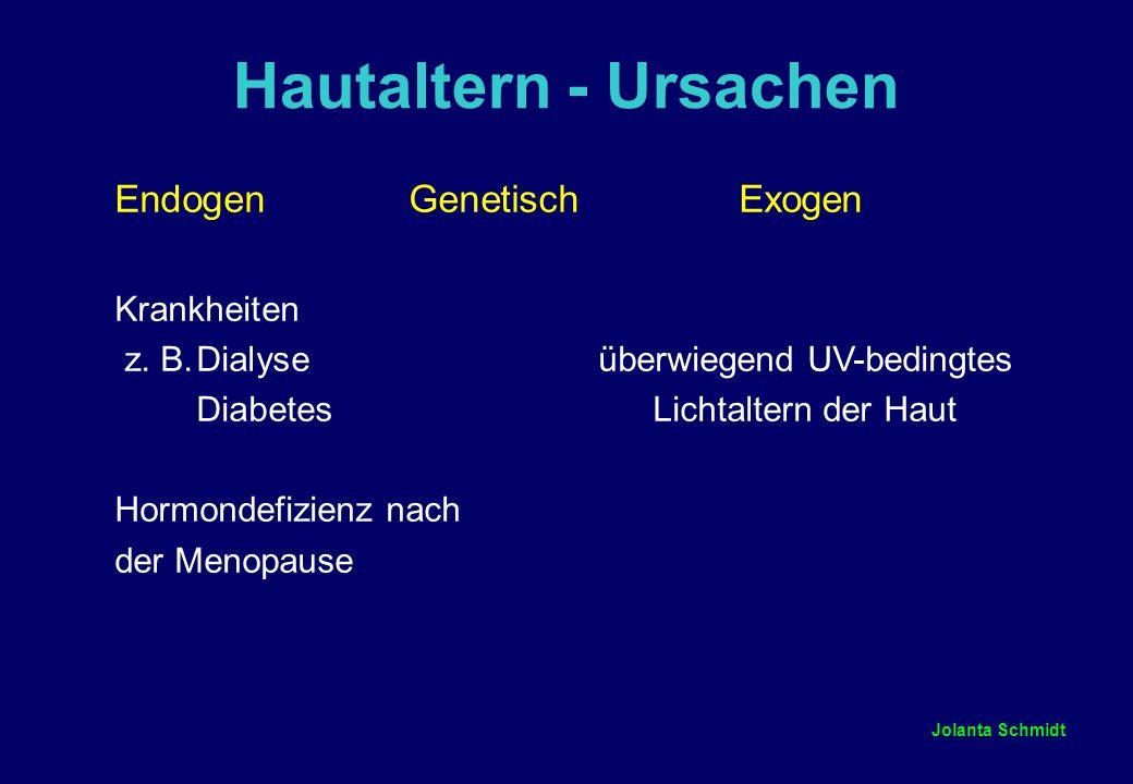Hautaltern - Ursachen Endogen Genetisch Exogen Krankheiten