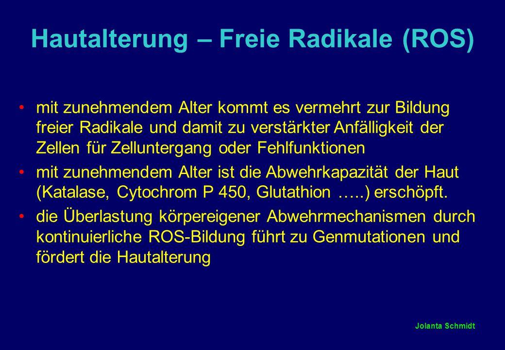 Hautalterung – Freie Radikale (ROS)