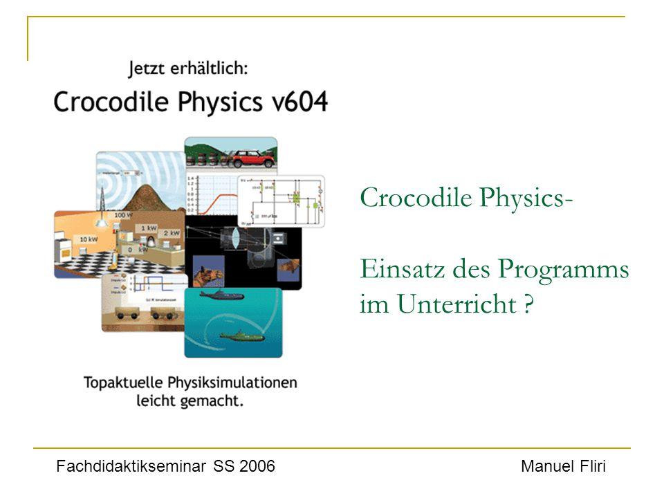 Crocodile Physics- Einsatz des Programms im Unterricht