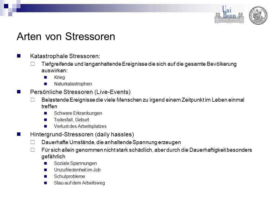 Arten von Stressoren Katastrophale Stressoren: