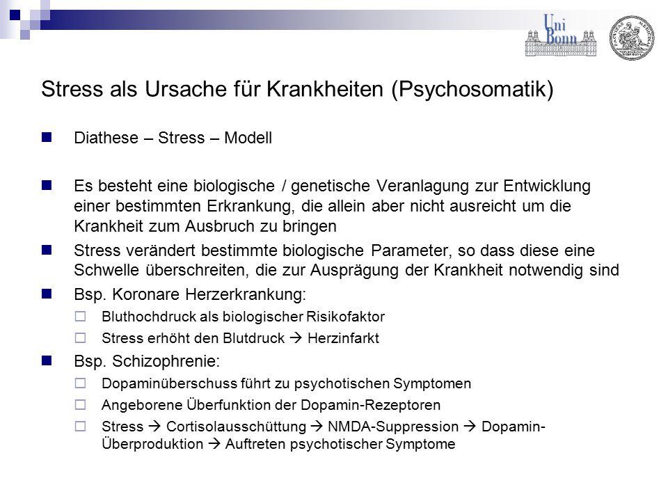 Stress als Ursache für Krankheiten (Psychosomatik)