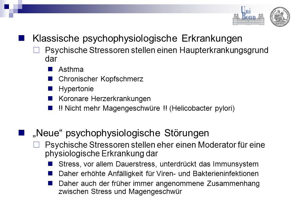 Klassische psychophysiologische Erkrankungen